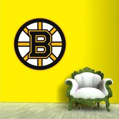Shop repositionable hockey style wall stickers to add inspiration to your game room. Sports Wall, Sports Logo, Wall Stickers, Wall Decals, Boston Bruins Logo, Ice Hockey Teams, Shopping, Decor, Wall Clings