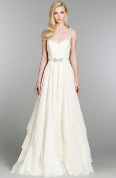 Sweetheart A-Line Wedding Dress  with Natural Waist in Silk Crepe. Bridal Gown Style Number:32825747