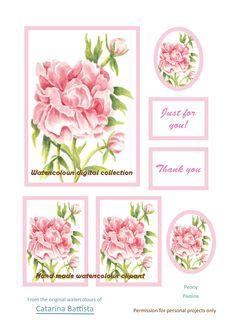 Carte numérique pivoine rose. Papier imprimable. Papier d'artisanat, Carte de voeux, Carte postale, Ephemera, Junk Journal, Collage, Scrapbooking, Découplage Scrapbooking Flowers, Collage, Printable Paper, Pink Peonies, Junk Journal, Art Projects, My Etsy Shop, Greeting Cards, Just For You