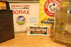 How to make laundry detergent -the easy way and then the other way.
