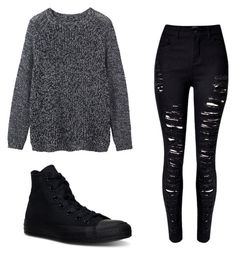 """Untitled #4"" by emo-skinny-jeans ❤ liked on Polyvore featuring WithChic, Converse and Toast"