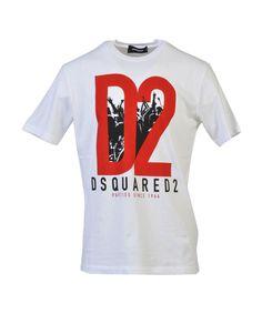 DSQUARED2 Dsquared2 Men'S  White Cotton T-Shirt'. #dsquared2 #cloth #t-shirts