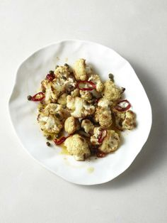 Roasted Cauliflower with Capers and Chile #myplate #veggies