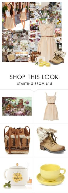 """""""Tea Time Ladies"""" by cheyenne-muter ❤ liked on Polyvore featuring interior, interiors, interior design, home, home decor, interior decorating, Vanessa Bruno, Steve Madden, Mud Australia and vintage"""