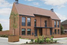 The Daisy is an attractive 2 bedroom home – designed for today's contemporary living. On the ground floor the spacious lounge/dining area feels particularly br Beautiful Architecture, Architecture Details, Manor Farm, Social Housing, Town House, House Extensions, Modern Traditional, Modern Houses, Facades