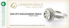 NOV - London Gold the holidays are the prefect time to buy her that engagement ring. #Save #Oakville #ShopLocal