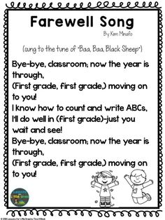 End of the Year Activities, Songs, & Books - Lessons for Little Ones by Tina O'Block