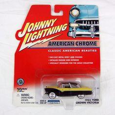 Johnny Lightning American Chrome 1955 Ford Crown Victoria Black & Yellow 1:64   Toys & Hobbies, Diecast & Toy Vehicles, Cars, Trucks & Vans   eBay!