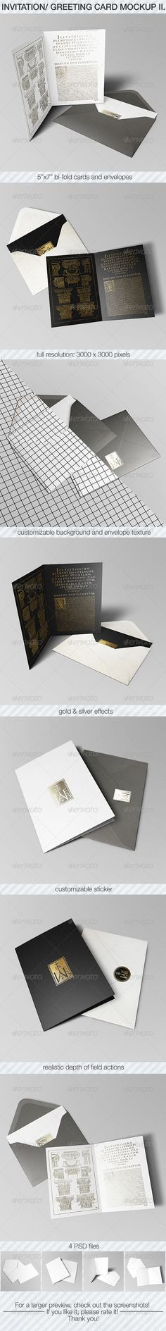 Invitation & Greeting Card Mockup Pack II. — Photoshop PSD #gold #depth • Available here → https://graphicriver.net/item/invitation-greeting-card-mockup-pack-ii/6933971?ref=pxcr