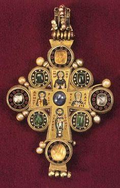 "Byzantine-style gold cross.  From ""Byzantine Art"" Facebook page."