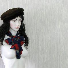 Rose  Scarf Vintage Silk Scarf Gift fot Her by DamovFashion