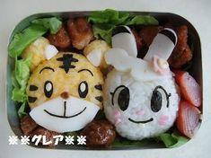 しまじろう・みみりん弁当 ※※グレアのキャラ弁※※ 息子達へのラブレター Japanese Lunch Box, Japanese Food, Out To Lunch, Tasty, Yummy Food, Cooking With Kids, Bento Box, Desert Recipes, Deserts