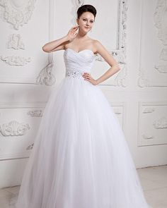 Organza Sweetheart Beading Ball Gown Wedding Dress