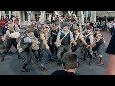 NEWSIES prepare for the Disney Parks Christmas Day Parade.  SO EXICTED!!!! CAN'T WAIT TO SEE MY FAVORITE GROUP OF BOYS CARRYING THE BANNER!!!!!!