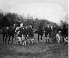 1924 November Rock Creek Hunt Club's fox hunt in R. Vintage Fox, Rock Creek, Fox Hunting, Horse World, Early American, Equestrian Style, Mans Best Friend, Vintage Photos, Horses