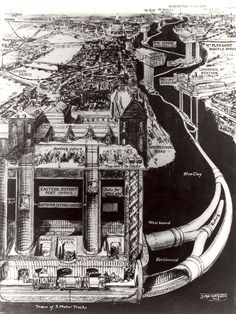 London's Hidden Tunnels: These Amazing Vintage Cutaway Diagrams Show Extraordinary Views of Piccadilly Circus' Underground Station ~ vintage everyday London Underground, Underground Cities, Transport Museum, London Transport, Pneumatic Tube, London History, Tudor History, British History, Piccadilly Circus