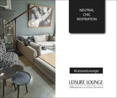 Neutral tones, mixed with contemporary design. Minimalism at its best. South African Design, Lounge, Gray Interior, Upholstered Furniture, Neutral Tones, Contemporary Design, Minimalism, Couch, Inspiration