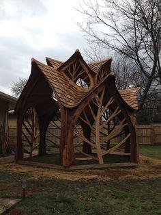 A beautiful gazebo by Matt Parker's Creative Carpentry & Design Co.