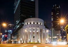 Osaka Exchange Building (旧大阪証券取引所).</b> Architect : Hasebe Architects (設計:長谷部・竹腰建築事務所). Contractor : Obayashi Corporation (施工:大林組).