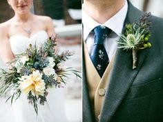 rustic bouquet & boutonniere