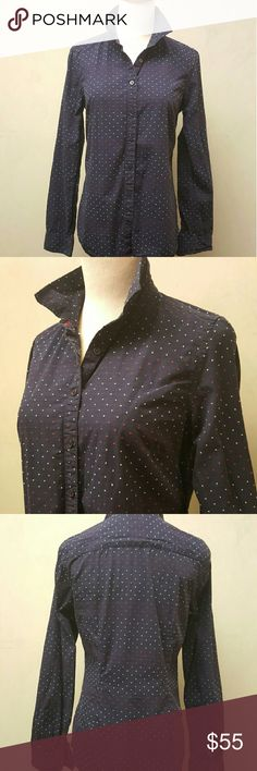 * Final Price * Tommy Hilfiger navy button down Tommy Hilfiger navy button down with red and white polka dots in great condition. Tommy Hilfiger Tops Button Down Shirts
