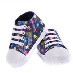 Barato Moda Bebés Meninas Meninos Lona Sapatos Macios Prewalkers Casuais Criança…