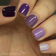 Uñas moradas ~ Sencillas, Elegantes y muy Femeninas