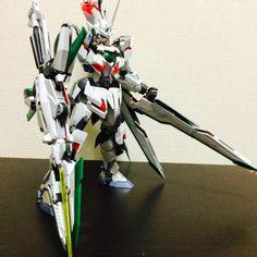 MG 1/100 Qan [T] + Unicorn Gundam Custom Build - Gundam Kits Collection News and Reviews