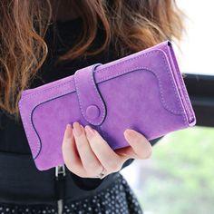 Amint Retro Unisex Leather Wallet Waterproof Thin Zipper Card Holder Wallet Purse