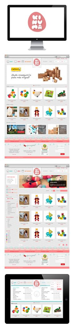 Web design, UI/UX Design, Visual identity, website KINUMA