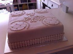 25 jaar getrouwd! Weddingcake. www.twinkelotje.nl