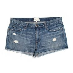 Pre-owned Current/Elliott Denim Shorts ($30) ❤ liked on Polyvore featuring shorts, blue, blue denim shorts, denim shorts, blue shorts, denim short shorts and jean shorts