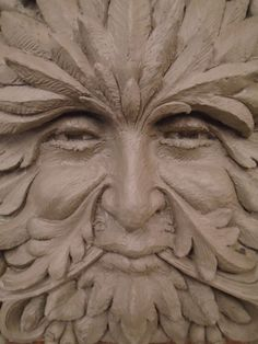 'Greenman (Garden Stone sculpture Commission)' by Thomas J. Stone Sculpture, Sculpture Art, Garden Sculpture, Ceramic Sculptures, Art Of Man, Thrown Pottery, Garden Stones, Green Man, Sculpting