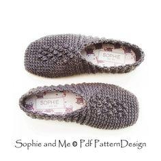 Ravelry: Grey Rib Pebble Slippers pattern by Sophie and Me-Ingunn Santini