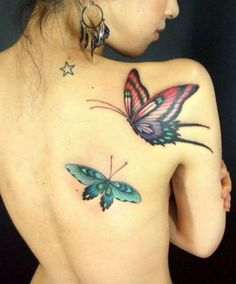 butterfly tattoos, lady