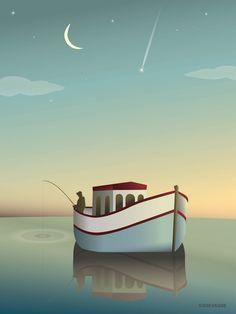 Fiskeren (The Fisherman) plakat vissevasse