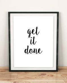 Get It Done Is Awesome Motivational Office Print Style Your Desk And Decorate