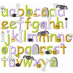HALLOWEEN EMBROIDERY FONT