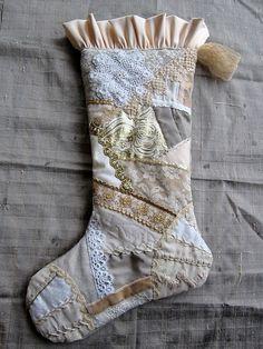 Beautiful Crazy Quilt Stocking