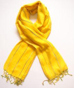 bright yellow scarf