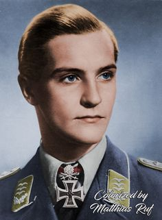 """Hans Joachim Marseille (1919-1942) was a Luftwaffe fighter pilot and flying ace during World War II. One of the best fighter pilots of World War II, he was nicknamed the """"Star of Africa"""". Marseille claimed all but seven of his """"official"""" 158 victories against the British Commonwealth's Desert Air Force over North Africa, flying the Messerschmitt Bf 109 fighter for his entire combat career. No other pilot claimed as many Western Allied aircraft as Marseille."""