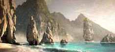 Nassau Coast Concept Art- Assassin's Creed 4 : Black Flag