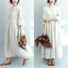 6caad2a5a7c685 2017 white linen dresses oversize casual long linen maxi dress traveling  dressesThis unique deisgn deserves the