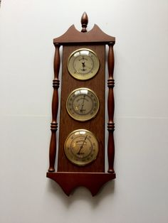 Vintage Verichron Barometer Thermometer by FindingYesterday