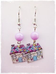 shrink plastic earrings by Kraftarije https://www.facebook.com/Kraftarije