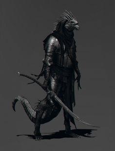 Lizardmen and Dragonborn - Fantasy Art Fantasy Races, Fantasy Warrior, Fantasy Rpg, Dark Fantasy Art, Fantasy Artwork, Warrior Angel, Fantasy Makeup, Fantasy Character Design, Character Design Inspiration