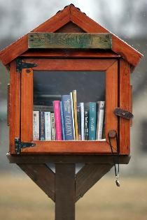 Little Free Library, if I ever live in a city or community area I want to put one of these up.