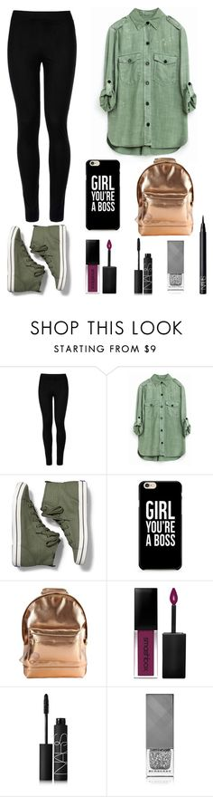 """""""back to school #11"""" by melanie-angeline-eats-nutella ❤ liked on Polyvore featuring Wolford, Keds, Mi-Pac, Smashbox, NARS Cosmetics and Burberry"""