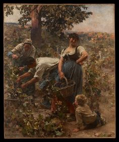 Léon-Augustin Lhermitte (French, 1844–1925). The Grape Harvest, 1884. The Metropolitan Museum of Art, New York. Gift of William Schaus, 1887 (87.22.2) @@@.....http://es.pinterest.com/mariaalicegoula/trabalho-feminino/