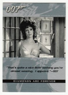 James Bond - The Quotable # 27 - Diamonds Are Forever